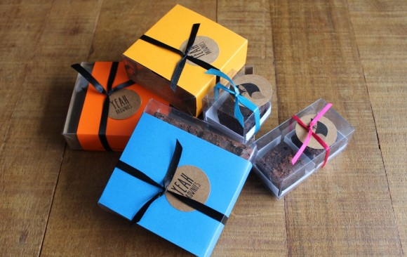 Caixas transparentes mini brownies